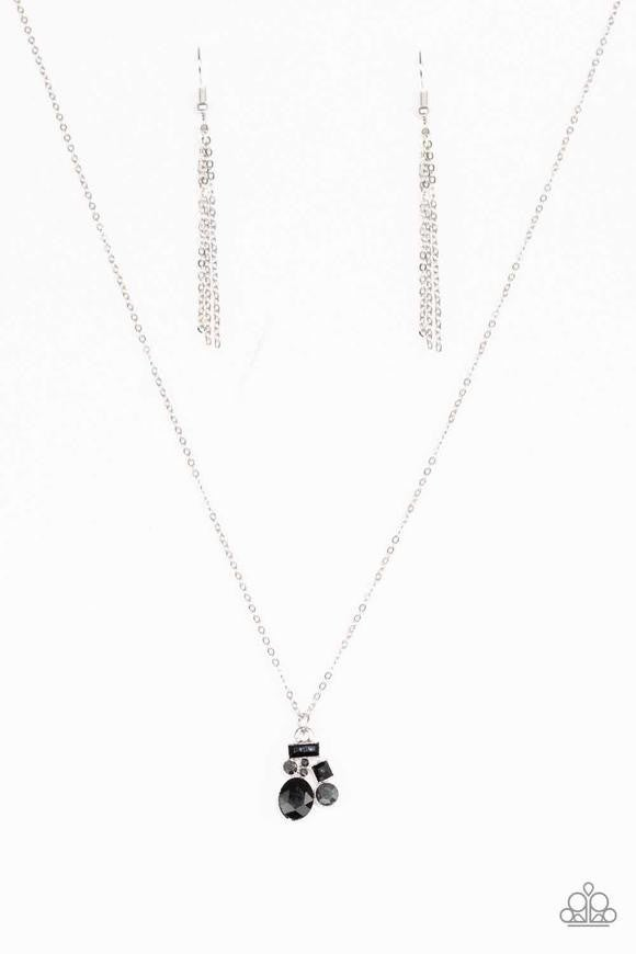 Time To Be Timeless - Black Necklace