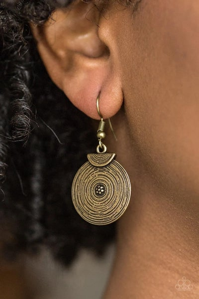Lily Of The Nile - Brass Earrings