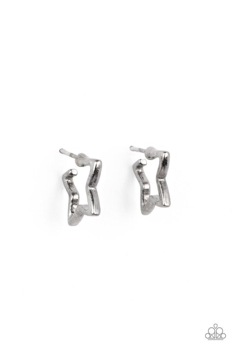 Starlet Shimmer - Star Hoop Earrings