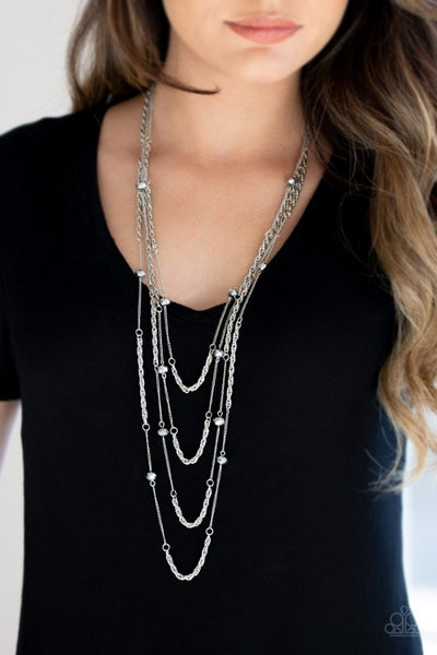 Open For Opulence - Silver Necklace