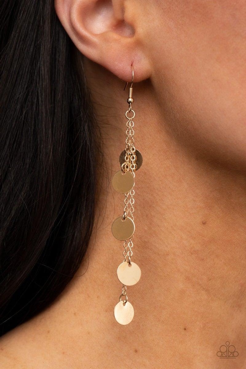 Take A Good Look - Gold Earrings