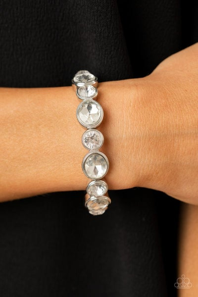Still GLOWING Strong - White Stretchy Bracelet