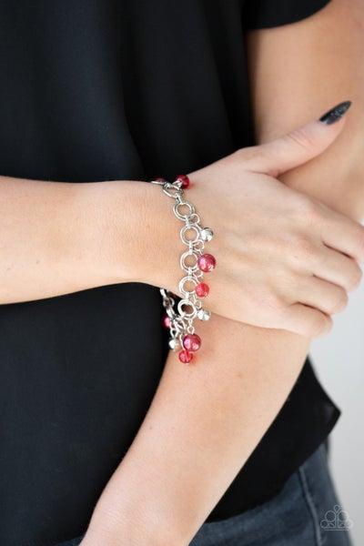 Fancy Fascination - Red Clasp Bracelet