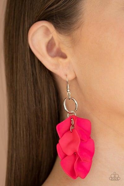 Glass Gardens - Pink Earrings