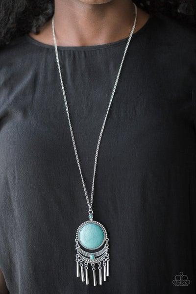 Rural Rustler - Blue Necklace