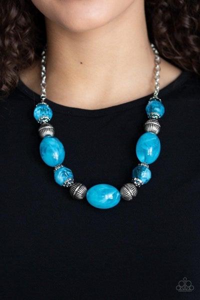 Ice Melt - Blue Necklace
