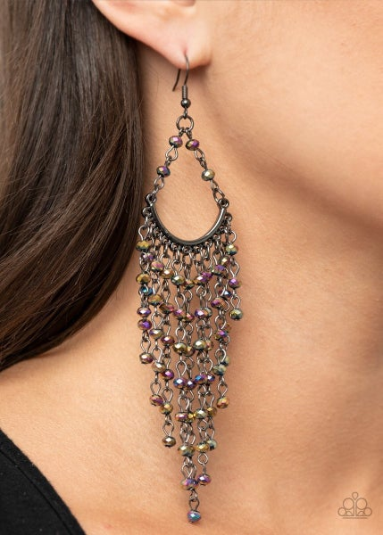 Metro Confetti - Multi Oil Spill Earrings - Life of the Party Exclusive February 2021