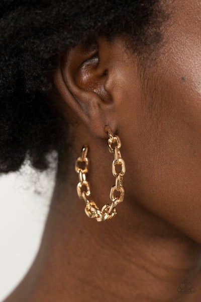 Stronger Together - Gold Hoop Earrings