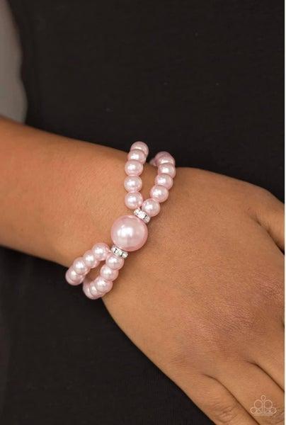 Romantic Redux - Pink Stretchy Bracelet