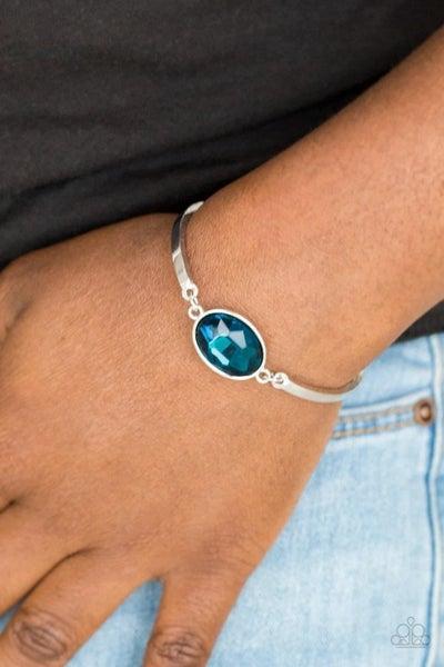 Definitely Dashing - Blue Clasp Bracelet