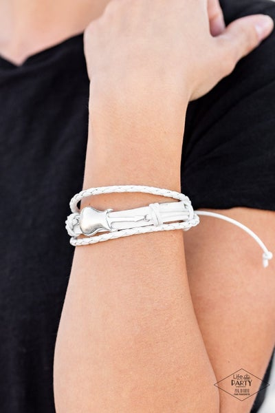 Lead Guitar - White Urban Bracelet