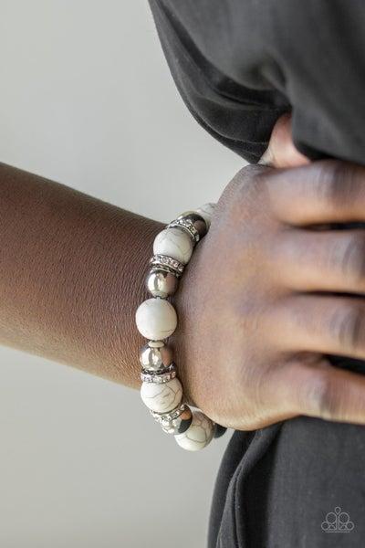 Ruling Class Radiance - White Stretchy Bracelet