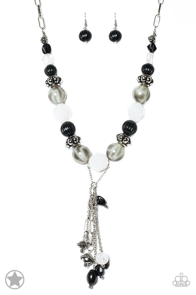 Break A Leg! - Black Necklace