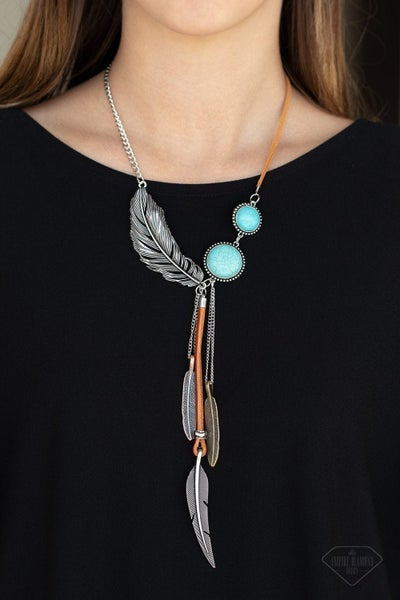 Stay Wild and Free - Blue Necklace