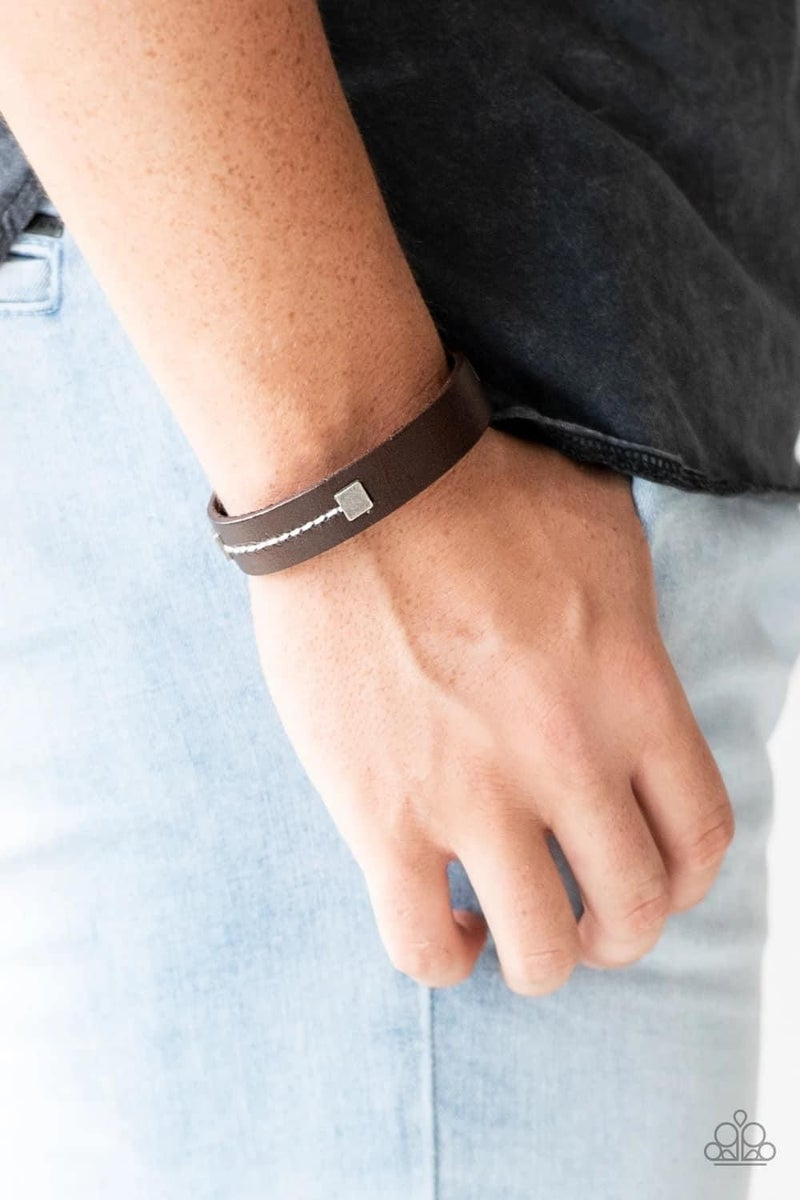 Totally Trailblazing - Brown Urban Bracelet