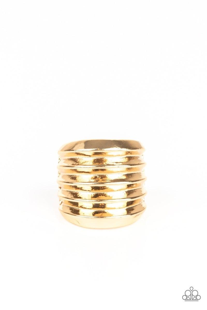 Hit Em Where It Hurts - Gold Ring
