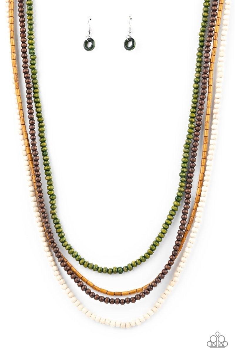 Bermuda Beaches - Green Necklace