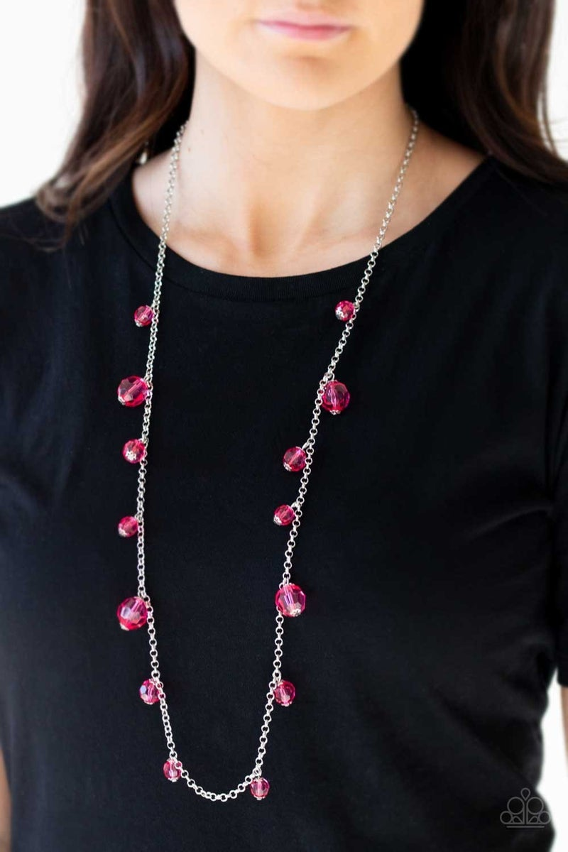GLOW-Rider - Pink Necklace