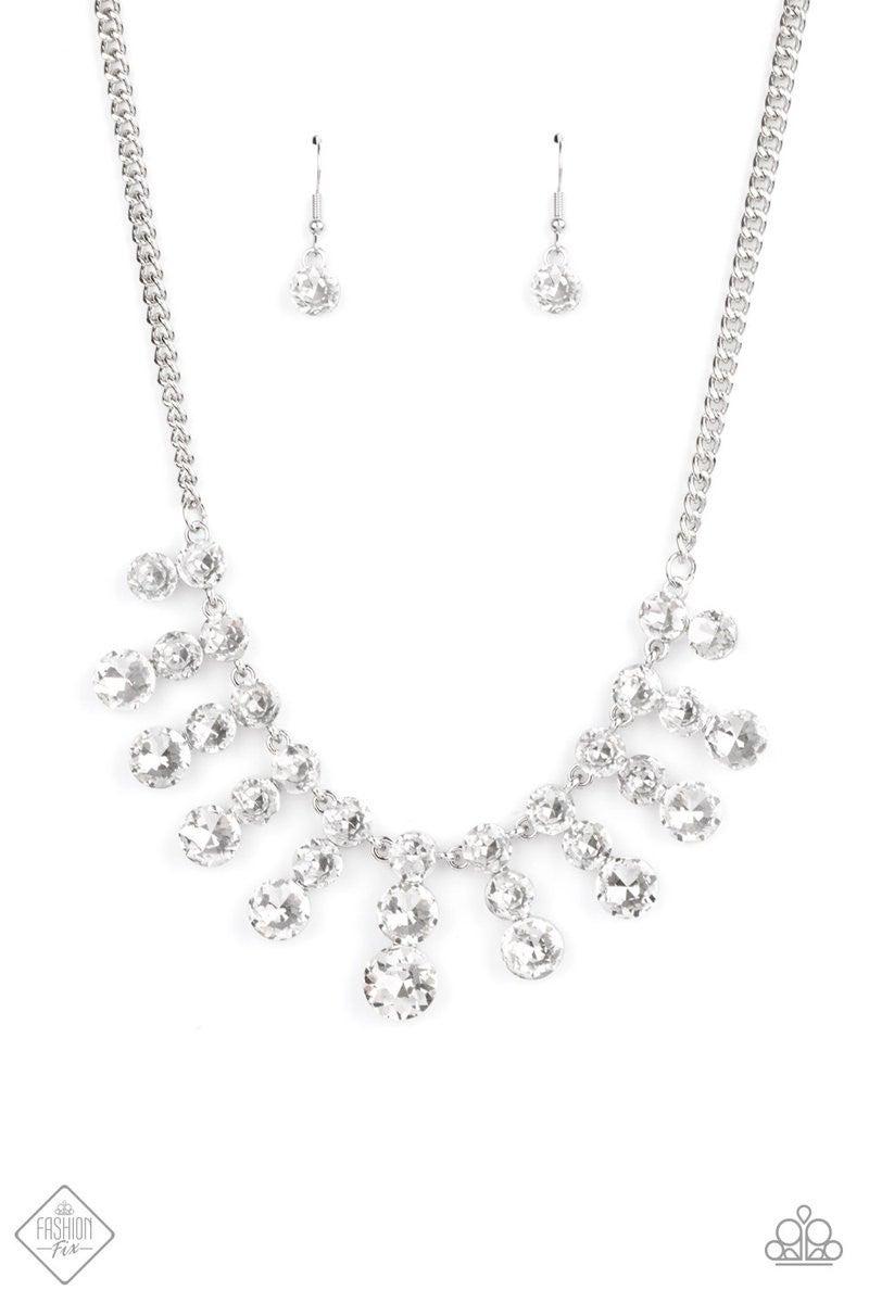 Celebrity Couture - White Necklace - February 2021 Fashion Fix