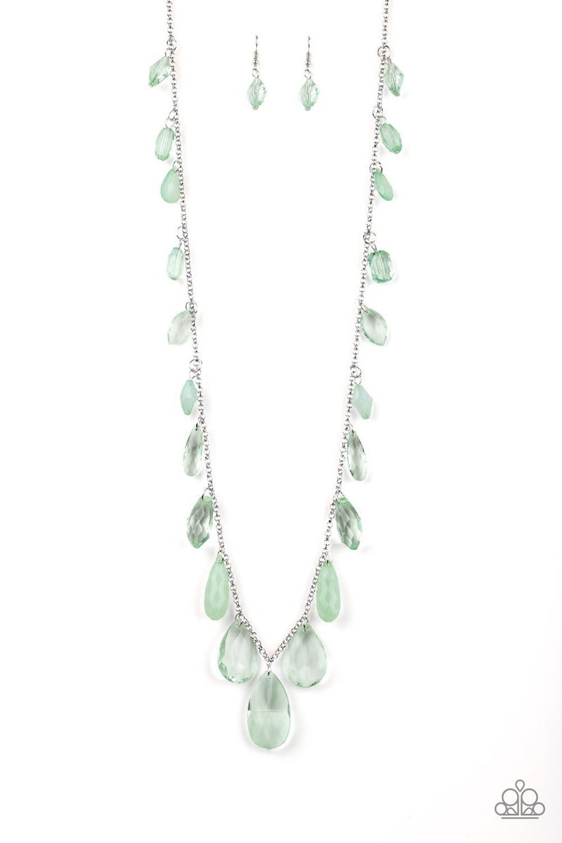 GLOW And Steady Wins The Race - Green Necklace