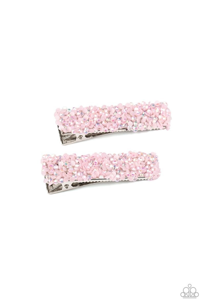 Hair Comes Trouble - Pink Hair Clip