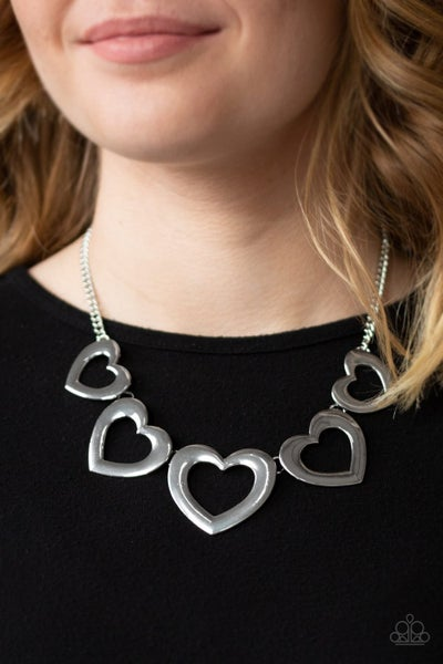 Hearty Hearts - Silver Necklace