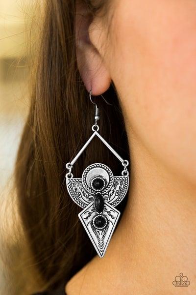 Desert Dynasty - Black Earrings