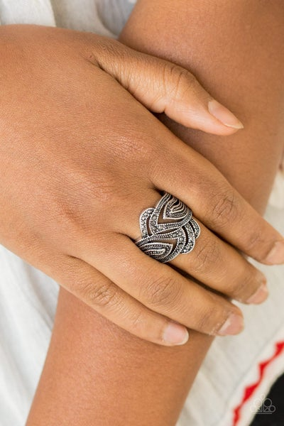 Fire and Ice - Silver Ring