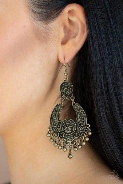 Sunny Chimes - Brass Earrings