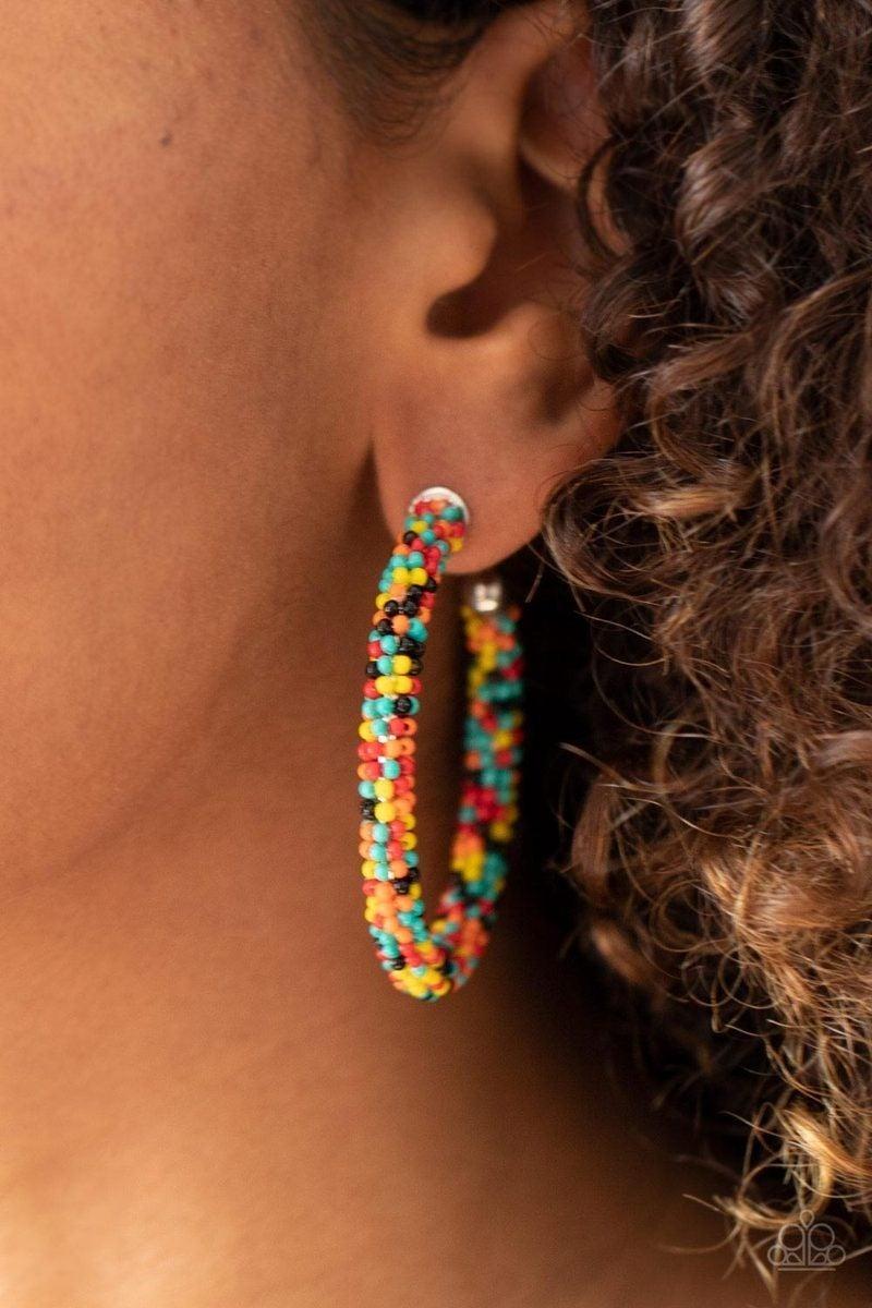 BEAD My Lips! - Multi Hoop Earrings