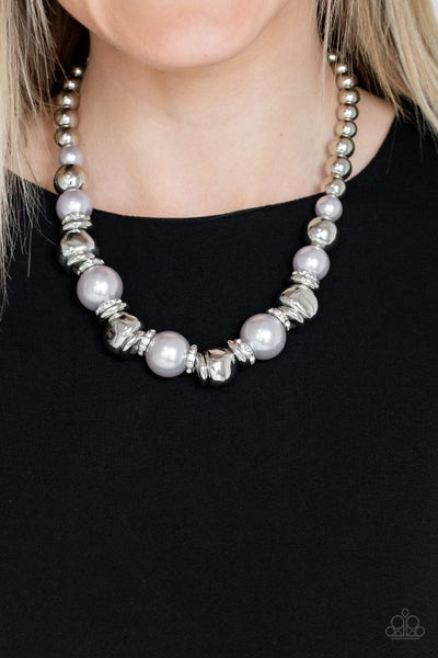Hollywood HAUTE Spot - Silver Necklace