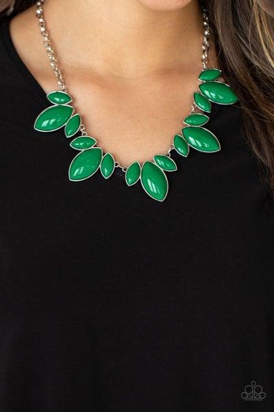 Viva La Vacation - Green Necklace