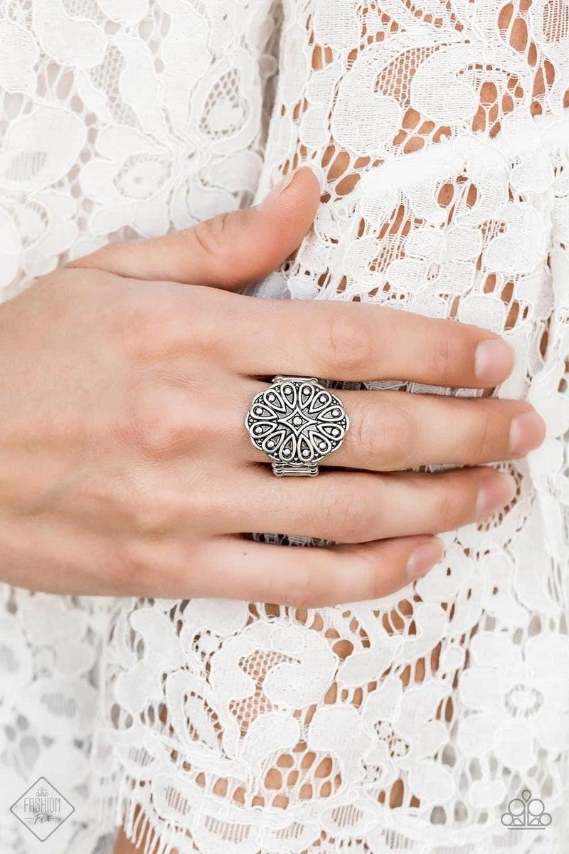 Modern Mandala - Silver Ring