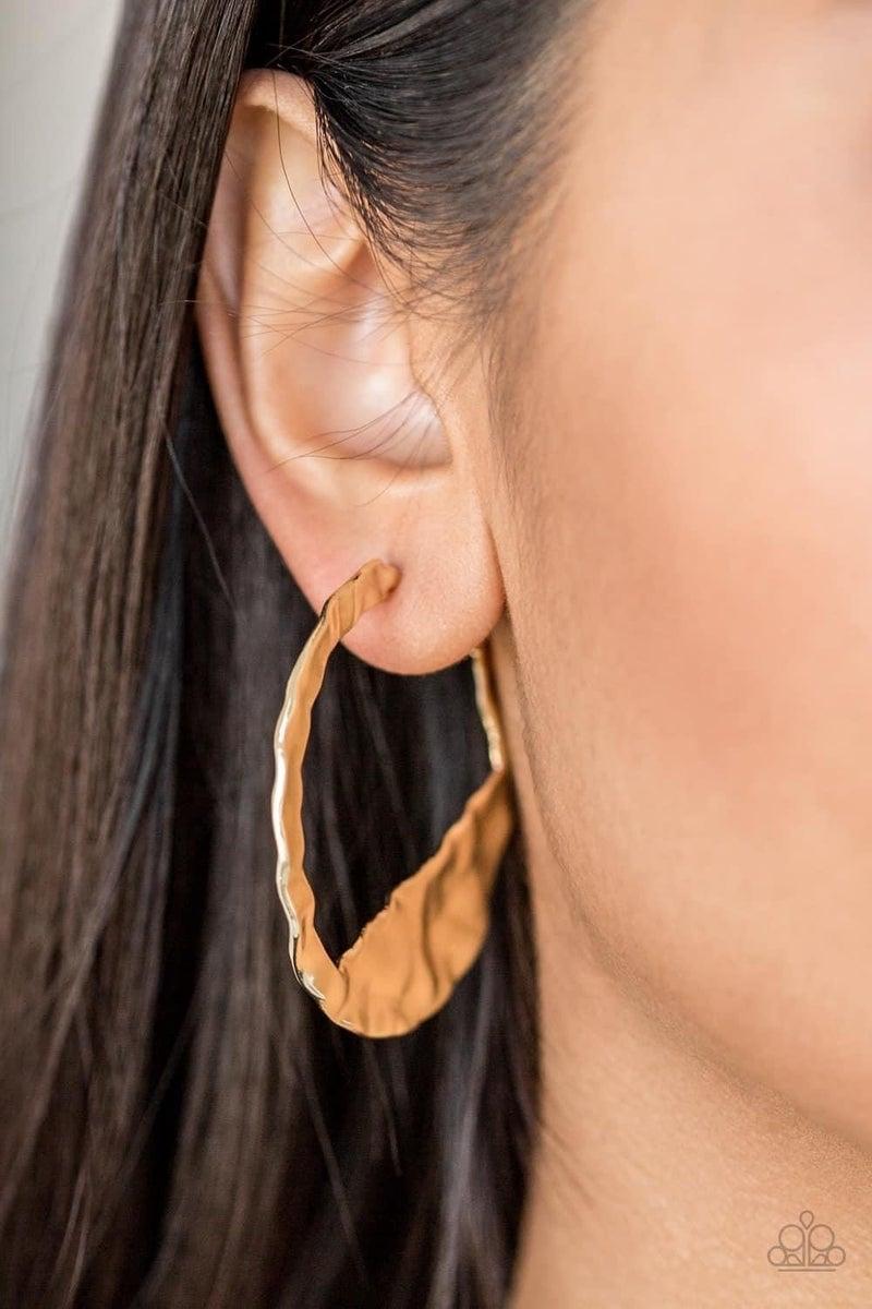 The BEAST Of Me - Gold Hoop Earrings