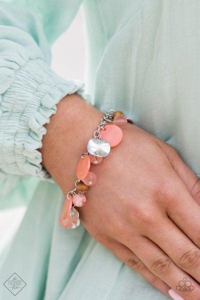 Springtime Springs - Orange Clasp Bracelet - April 2021 Fashion Fix