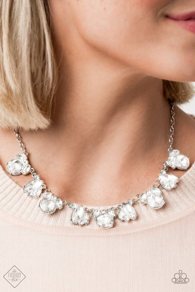 BLING to Attention - White Necklace - September 2020 Fashion Fix