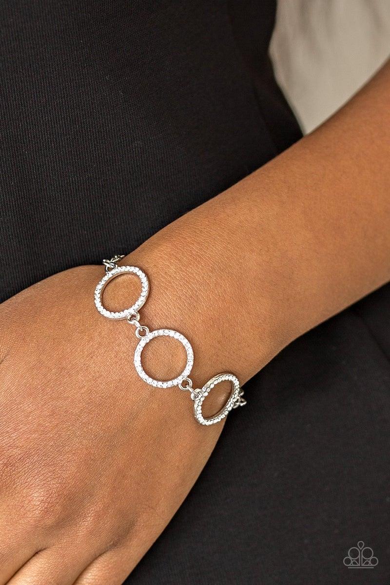Dress The Part - White Clasp Bracelet