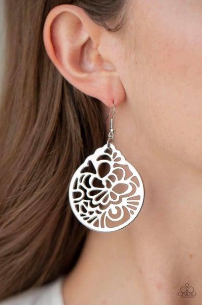 Garden Mosaic - Silver Earrings