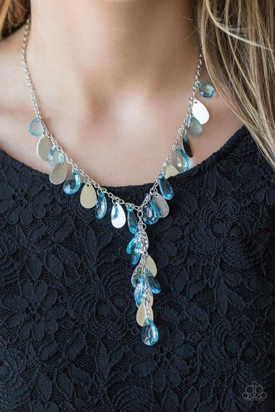 Sailboat Sunsets - Blue Necklace