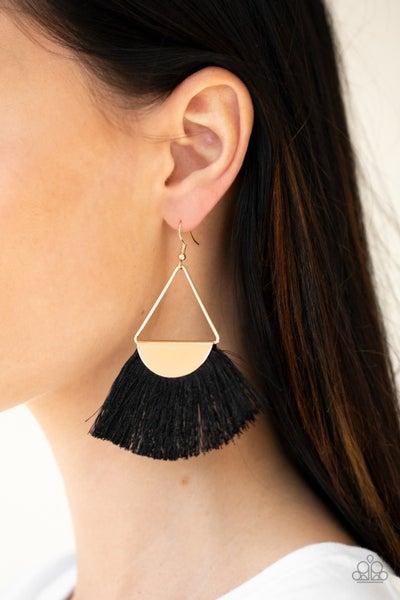 Modern Mayan - Gold/Black Earrings