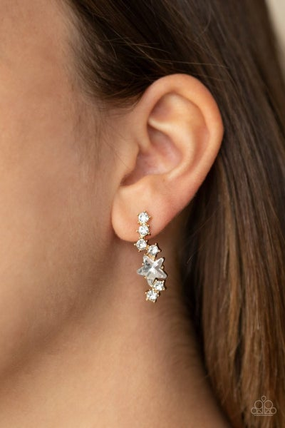 Cosmic Combustion - Gold Earrings
