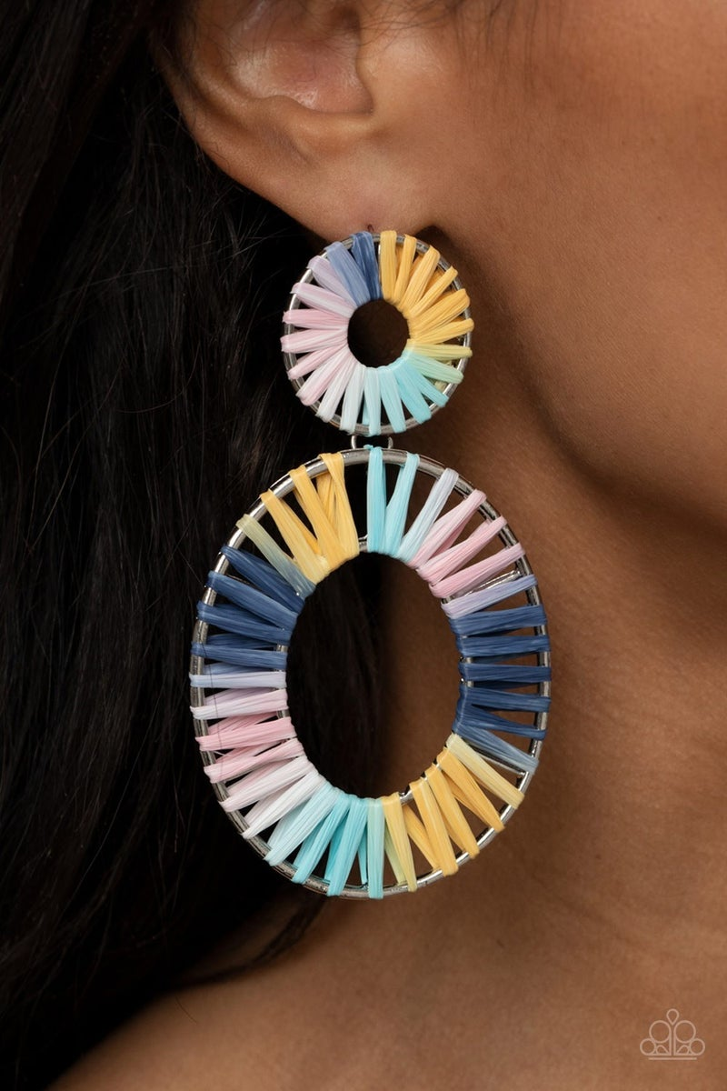 Foxy Flamenco - Multi Earrings - Life of the Party March 2021