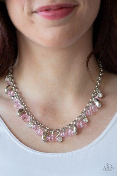 Downstage Dazzle - Pink Necklace