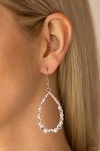 Gala Go-Getter - White Earrings