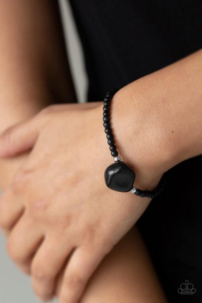 Eco Eccentricity - Black Stretchy Bracelet