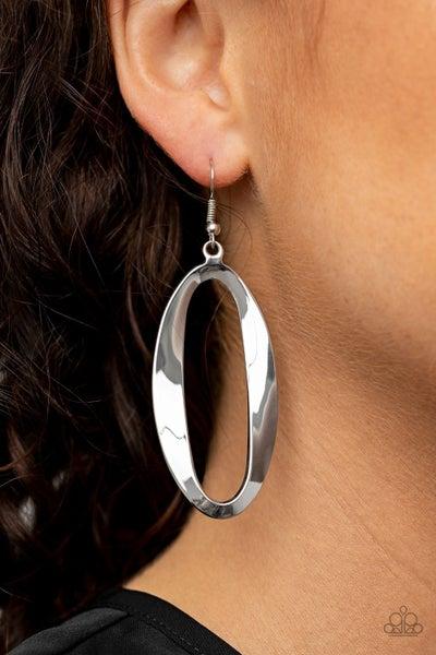 OVAL My Head - Silver Earrings