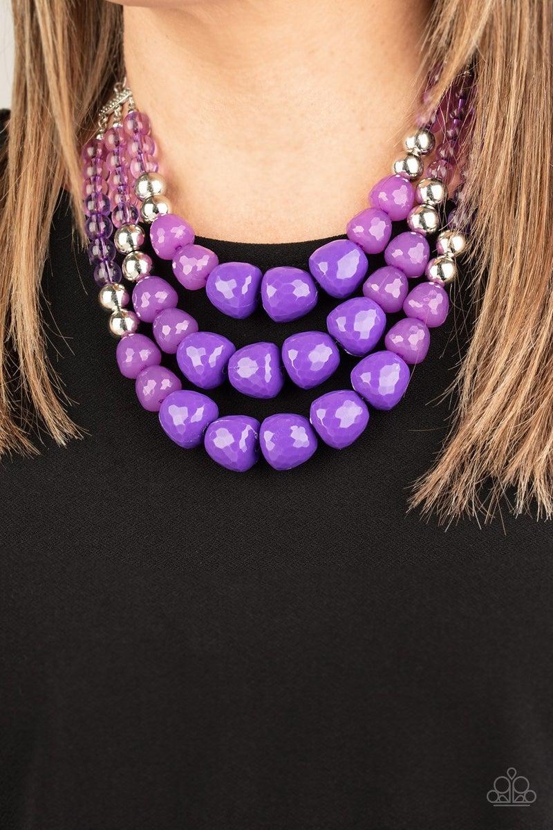 Forbidden Fruit - Purple Necklace