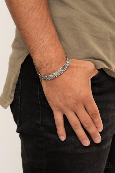 Magnetic Maven - Silver Men's Cuff