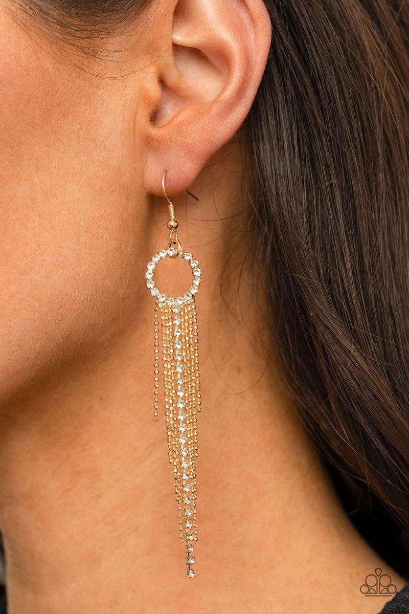 Pass The Glitter - Gold Earrings