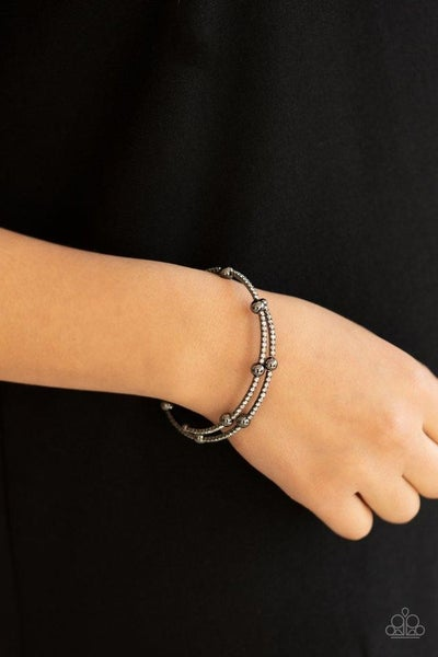 Standout Shine - Gunmetal Coil Bracelet